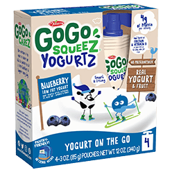 Image of YogurtZ Blueberry Packaging