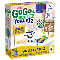 Image of YogurtZ Banana Packaging